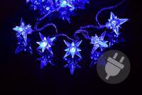 Karácsonyi LED világítás - csillagok, kék