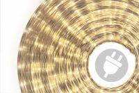 Világító kábel 10 m - meleg fehér, 360 mini izzó