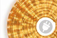 Fénykábel 10 m - sárga, 360 mikro izzó