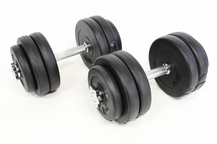 Egykezes súlyzó szett PROFI - 30 kg