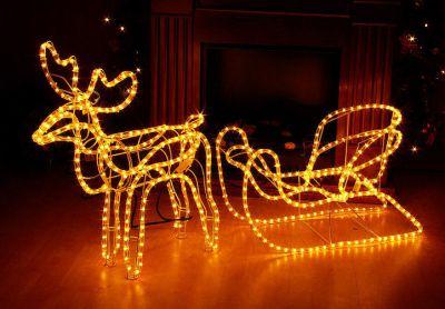 Karácsonyi rénszarvas világítás - díszvilágítás 140 cm