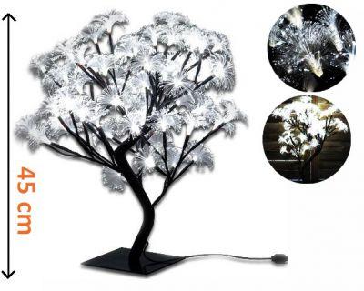 Dekoratív LED világítás - fa virágokkal, hideg fehér