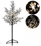 Dekoratív LED világítás - fa virágokkal 150 cm, meleg fehér