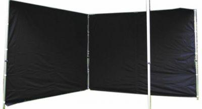 Két oldalfal PROFI kerti sátorhoz 3 x 3 m - fekete
