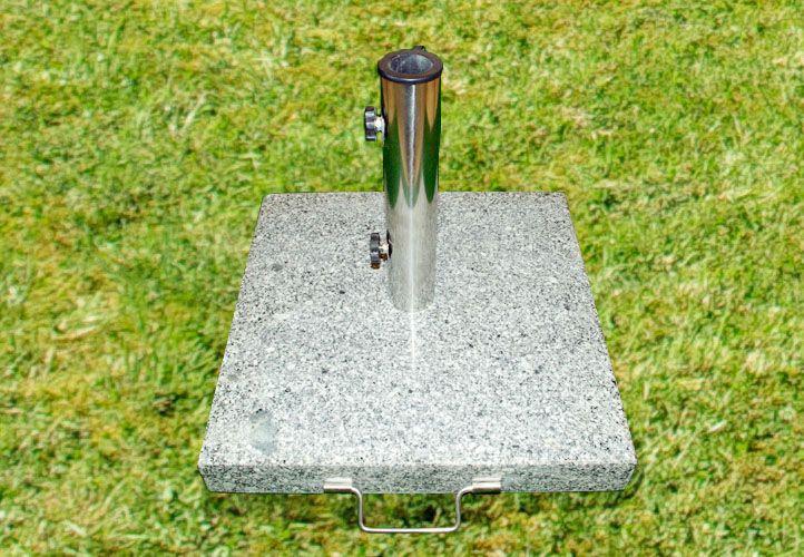 Napernyőtalp - gránit/rozsdamentes acél, 50 kg