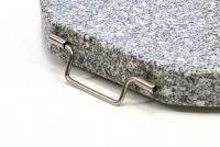 Napernyőtalp (kör alakú) - gránit/rozsdamentes acél, 25 kg