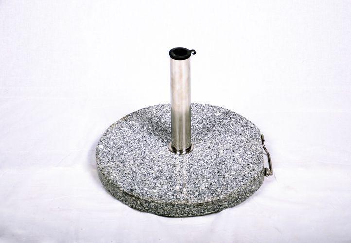 Napernyőtalp (kör alakú) - gránit/rozsdamentes acél, 40 kg