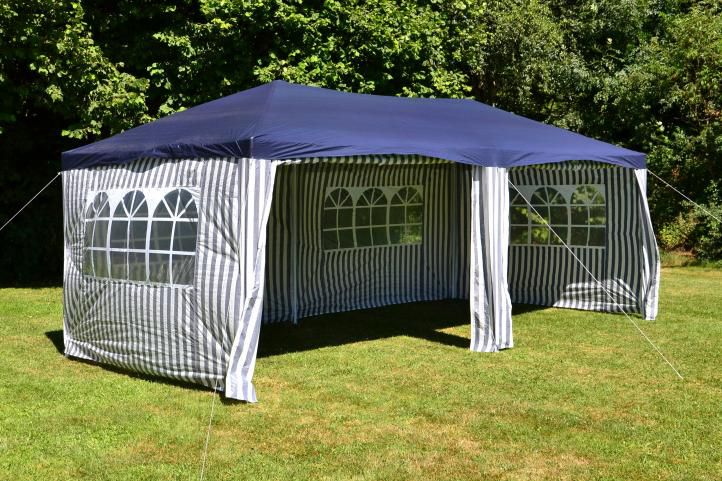Kerti party sátor GARTHEN – 3 x 6 m, kék