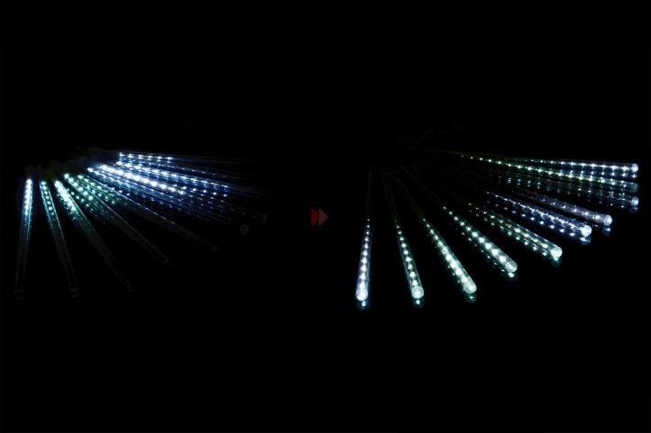 Karácsonyi dekoratív világítás 180 LED - vízesés - hideg fehér