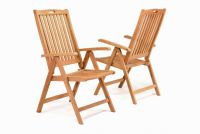 Kerti szék DIVERO 2 db - teak fa