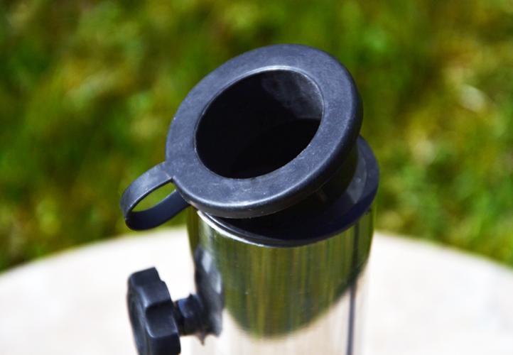 Kör alakú napernyőtalp márványból és rozsdamentes acélból, 40 kg
