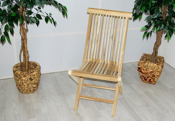 DIVERO összecsukható kerti szék tíkfából - 2 db