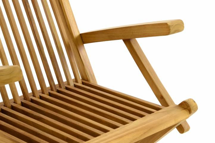 DIVERO összecsukható kerti szék tíkfából