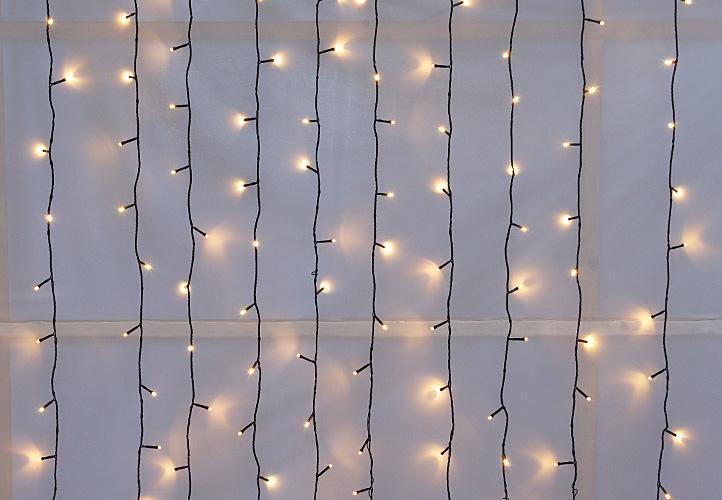 diLED  fényfüggöny - 200 LED meleg fehér