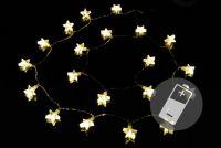 Karácsonyi világítás - csillag - meleg fehér