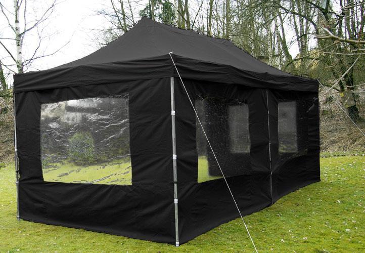 63fda2168b30 Összecsukható kerti parti sátor PROFI – 3 x 6 m fekete