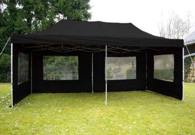 Összecsukható kerti parti sátor PROFI – 3 x 6 m fekete
