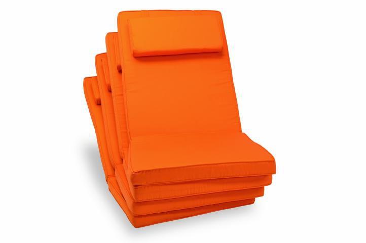 Garth minőségi párna székhez - narancssárga, 4 db