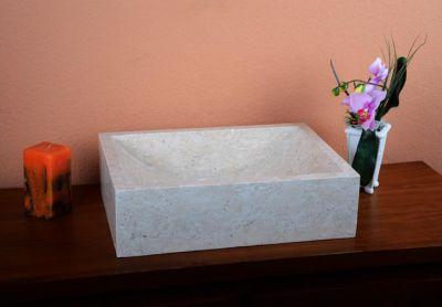 DIVERO Mosdókagyló természetes kőből - Filiano