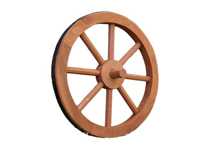 Fa kerék Ghana Garth, stílusos, rusztikus dekoráció - 35 cm