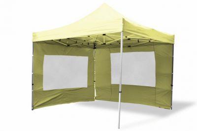 Összecsukható kerti parti sátor Profi –pezsgőszín, 3 x 3 m + 4 oldalfallal