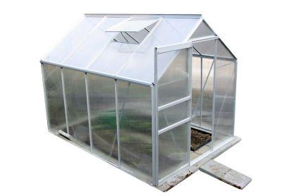 Garth üvegház egyszárnyú tolóajtóval, 250 x 190 x 195 cm