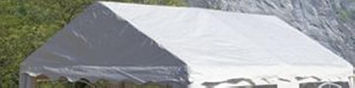 Tartalék tető kerti parti sátorhoz - 3 x 4 m - fehér