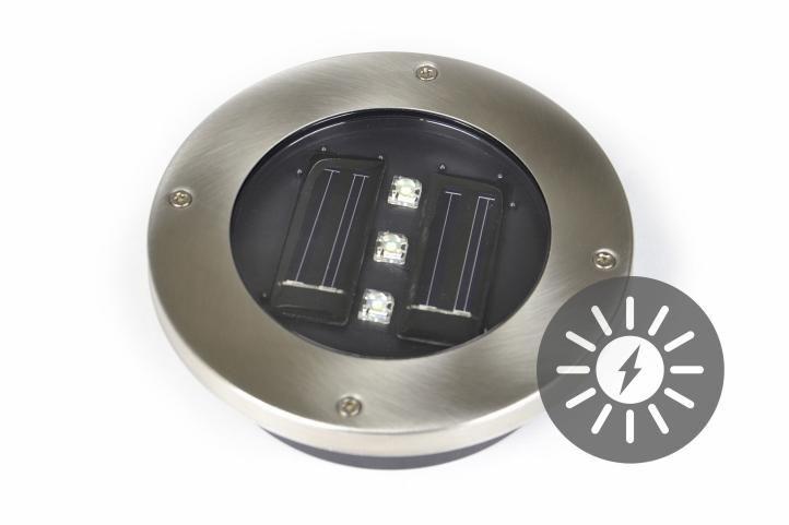 Kerti beépített napelemes megvilágítás Garth, 3 LED dióda