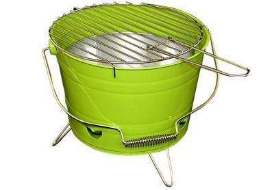 Mini BBQ vödör grill - zöld