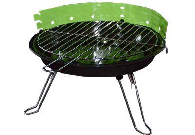 Mini BBQ asztali parti grill - zöld