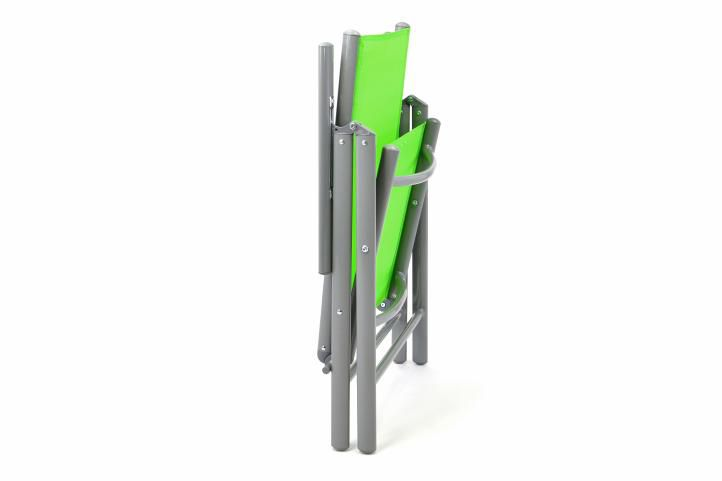 Alumínium összecsukható szék készlet Garth - zöld, 4 db