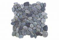 Mozaik Garth, burkolat - folyami kavics, szürke