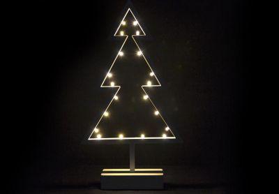 Karácsonyi dísz - fa állványon - 38 cm,  20 LED