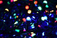 Karácsonyi LED fényfüzér 10 m - színes, 100 MAXI LED dióda