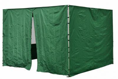 Két oldalfal PROFI kerti sátorhoz 3 x 3 m - zöld