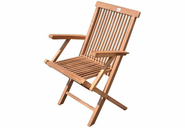 Kerti szék összecsukható DIVERO 4db - teak fa