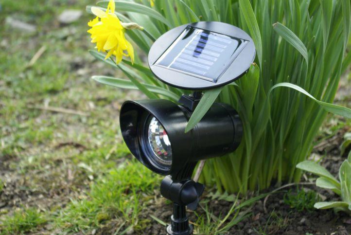 Kerti LED szoláris reflektor Garth - 3 LED dióda