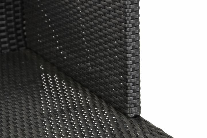 Polyrattan terasz szett GARTHEN - fekete