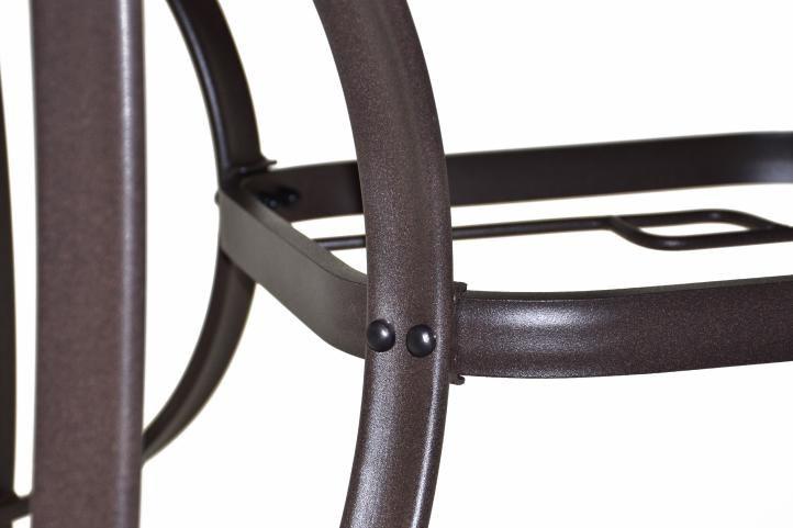 Bistro asztal + 4 polyrattan szék Garth