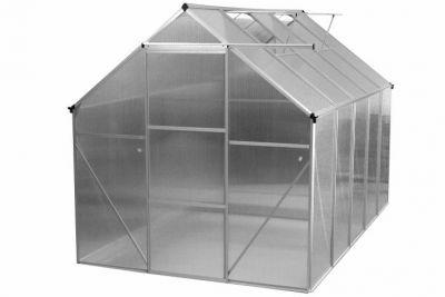Üvegház két tető ablakkal 311x190x195x (124) cm