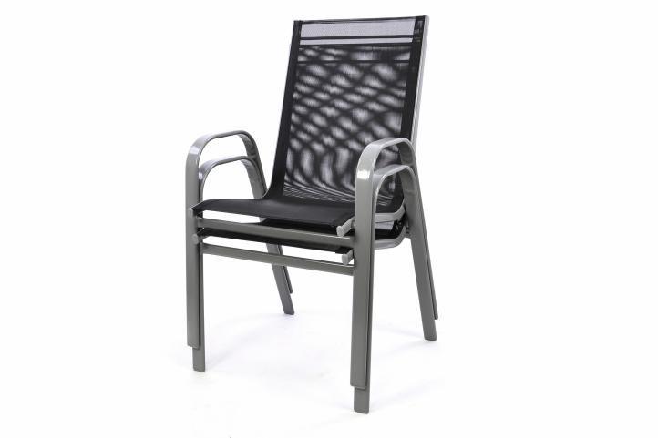 Egymásra helyezhető kerti szék - antracit