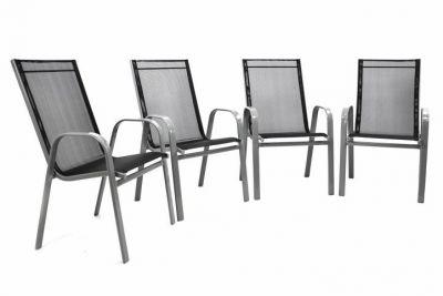 Kerti szék rakásolható GARTHEN 4 db - antracit