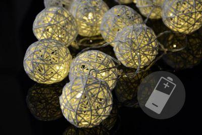 Karácsonyi LED világítás - rattan golyó - 20 LED