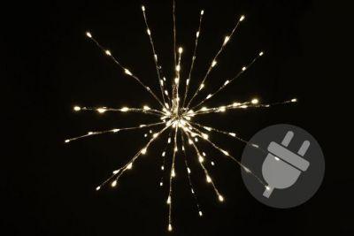 Karácsonyi LED világítás - meteorzápor- meleg fehér, 120 LED