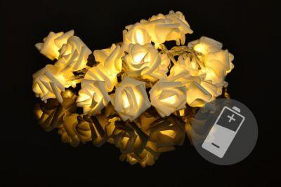 Dekoratív LED világítás - rózsa - 20 LED, meleg fehér
