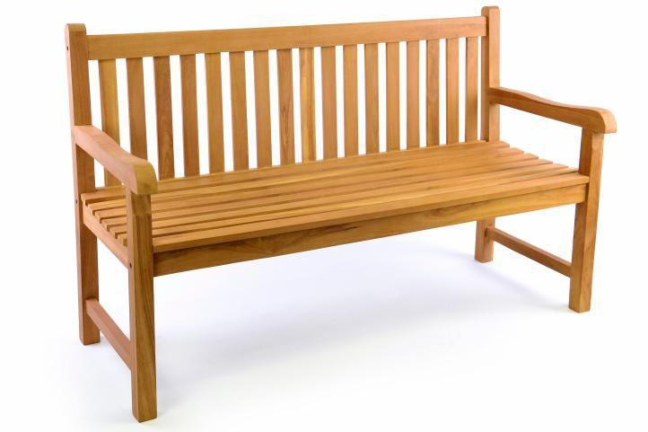 Kerti pad DIVERO® 3-személyes 150 cm - tíkfa