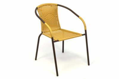 Kerti rattan szék BISTRO - világos barna