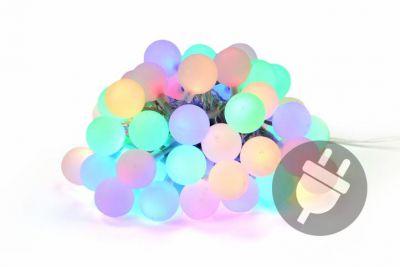 Kerti világítás NEXOS 21m/50x LED - színes