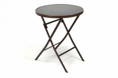 Kerti asztal összecsukható GARTHEN 70 cm - barna