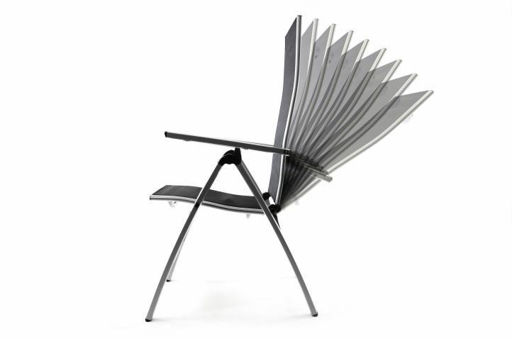 Összecsukható kerti szék GARTHEN - fekete